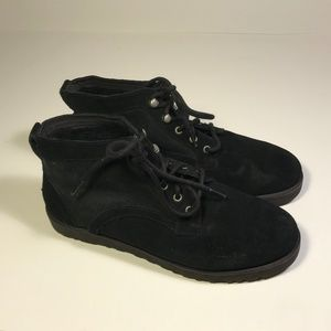 "Ugg ""Bethany"" Black Suede Booties Women Size 10"